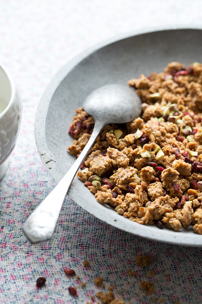 Gluten free and grain free honey granola :: Photographed and styled by Sonja Dahlgren