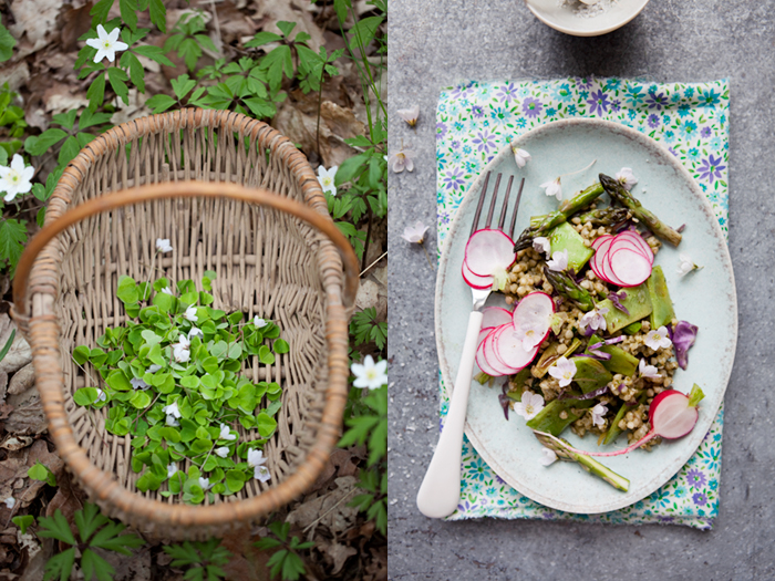 Buckwheat salad with wood sorrel and radishes :: Sonja Dahlgren/Dagmar's Kitchen