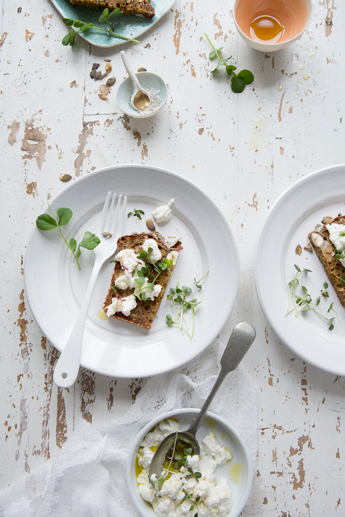 Rye soda bread and homemade goat's curd :: Sonja Dahlgren/Dagmar's Kitchen