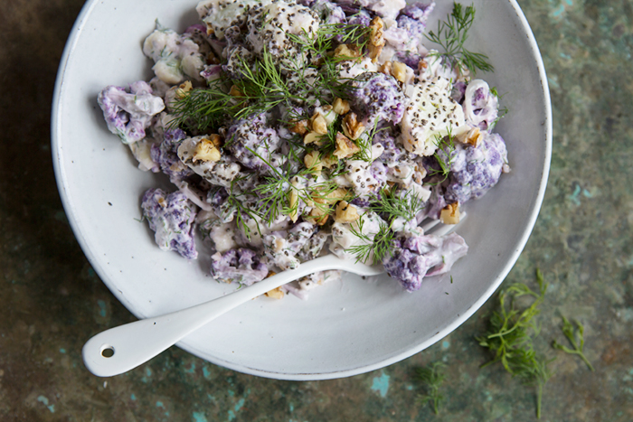 Raw cauliflower salad :: Sonja Dahlgren/Dagmar's Kitchen