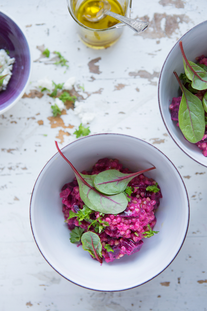Red beet buckwheat 'risotto' :: Sonja Dahlgren/Dagmar's Kitchen