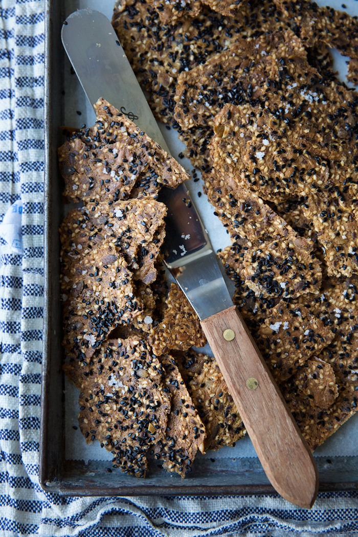 Gluten free seed crackers fresh from the oven :: Sonja Dahlgren/Dagmar's Kitchen