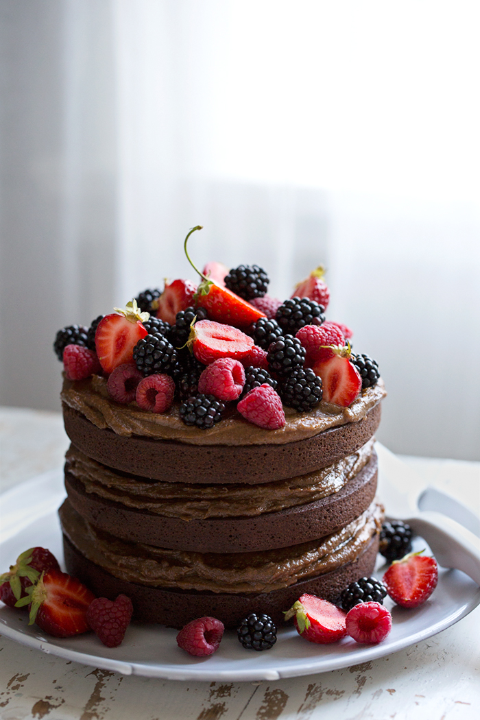 Sonja Dahlgren/Dagmar's Kitchen :: Coco crazy chocolate cake with salted espresso caramel