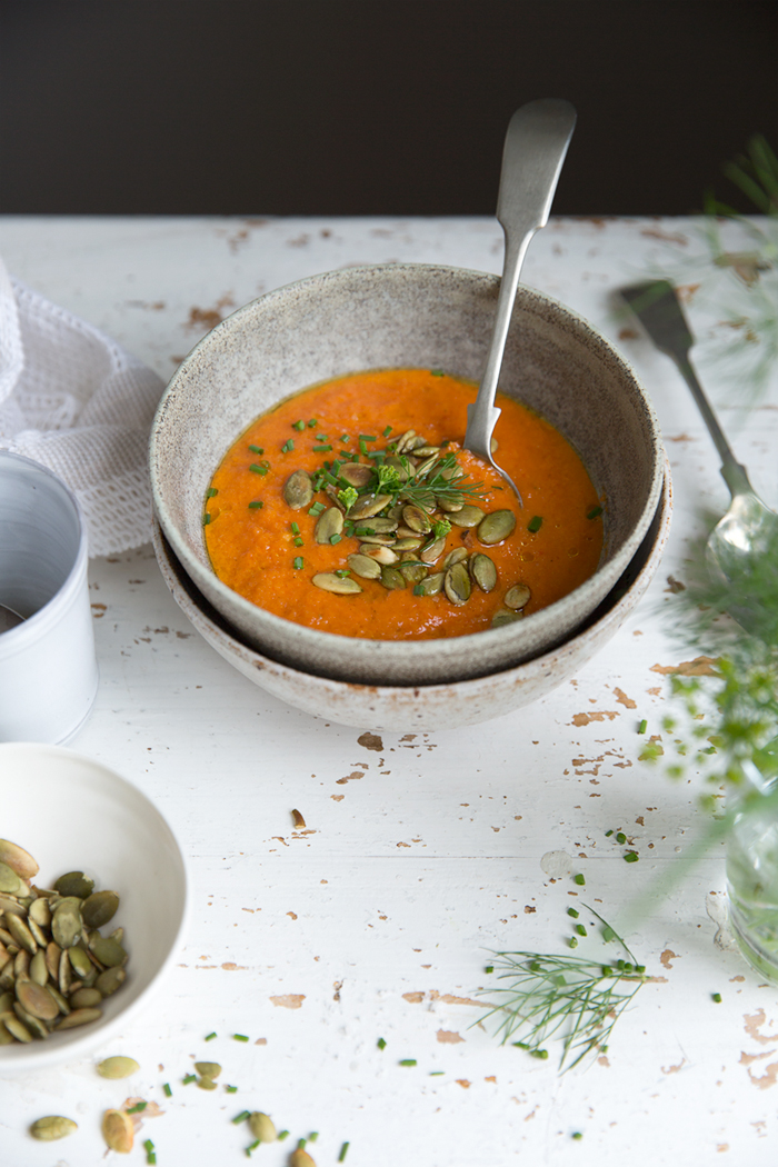 Dagmar's Kitchen/Sonja Dahlgren :: Roasted red pepper soup for warm summer days