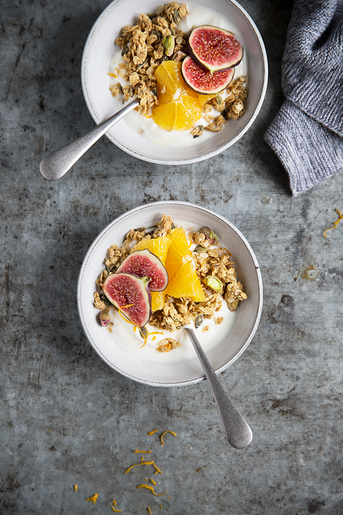 A slow roasted ginger and orange spiced granola :: Sonja Dahlgren/Dagmar's Kitchen