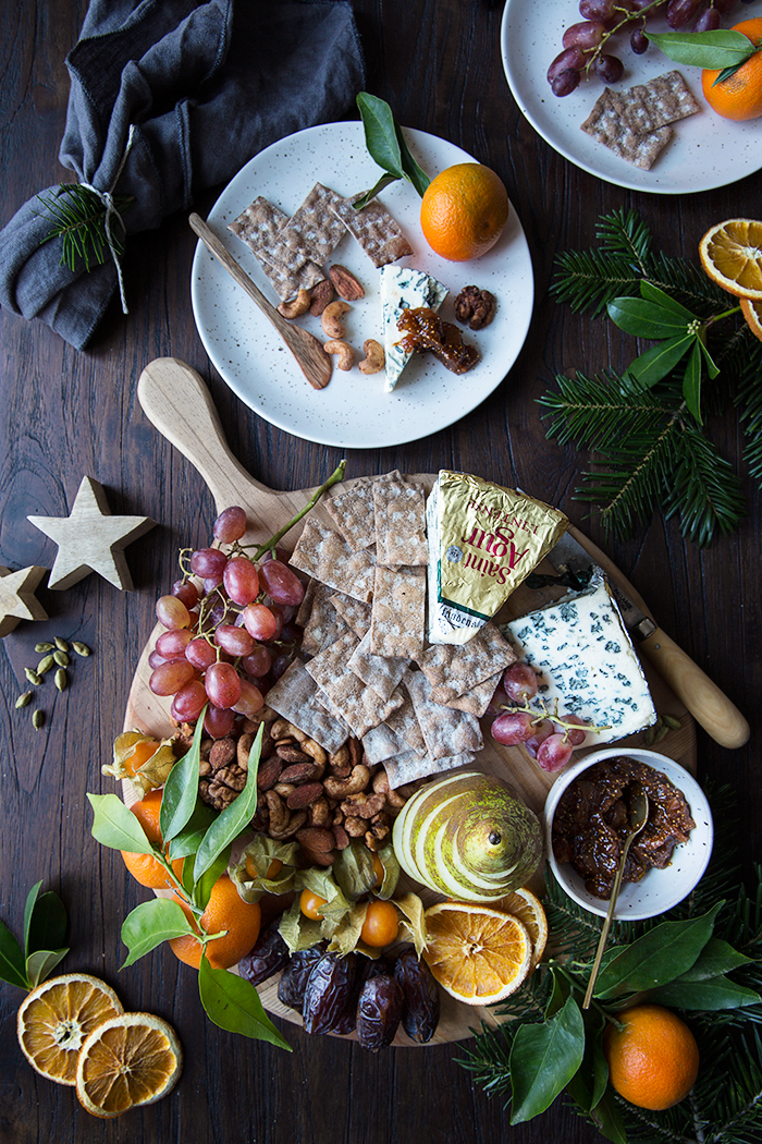 Christmas Cheese Board Ideas.A Holiday Cheese Board With Homemade Fig And Orange