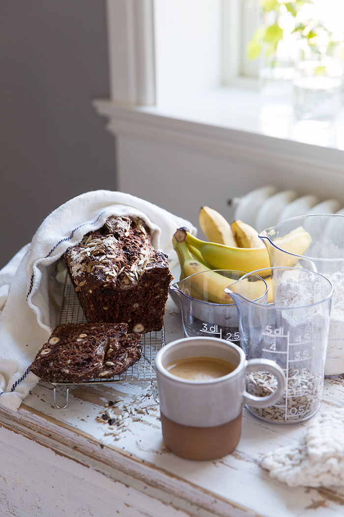 Chocolate Banana Bread with Chia :: Sonja Dahlgren/Dagmar's Kitchen