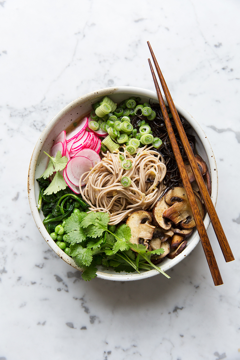 A Super Simple Miso Noodle Bowl with Arame and Spinach :: Sonja Dahlgren/Dagmar's Kitchen