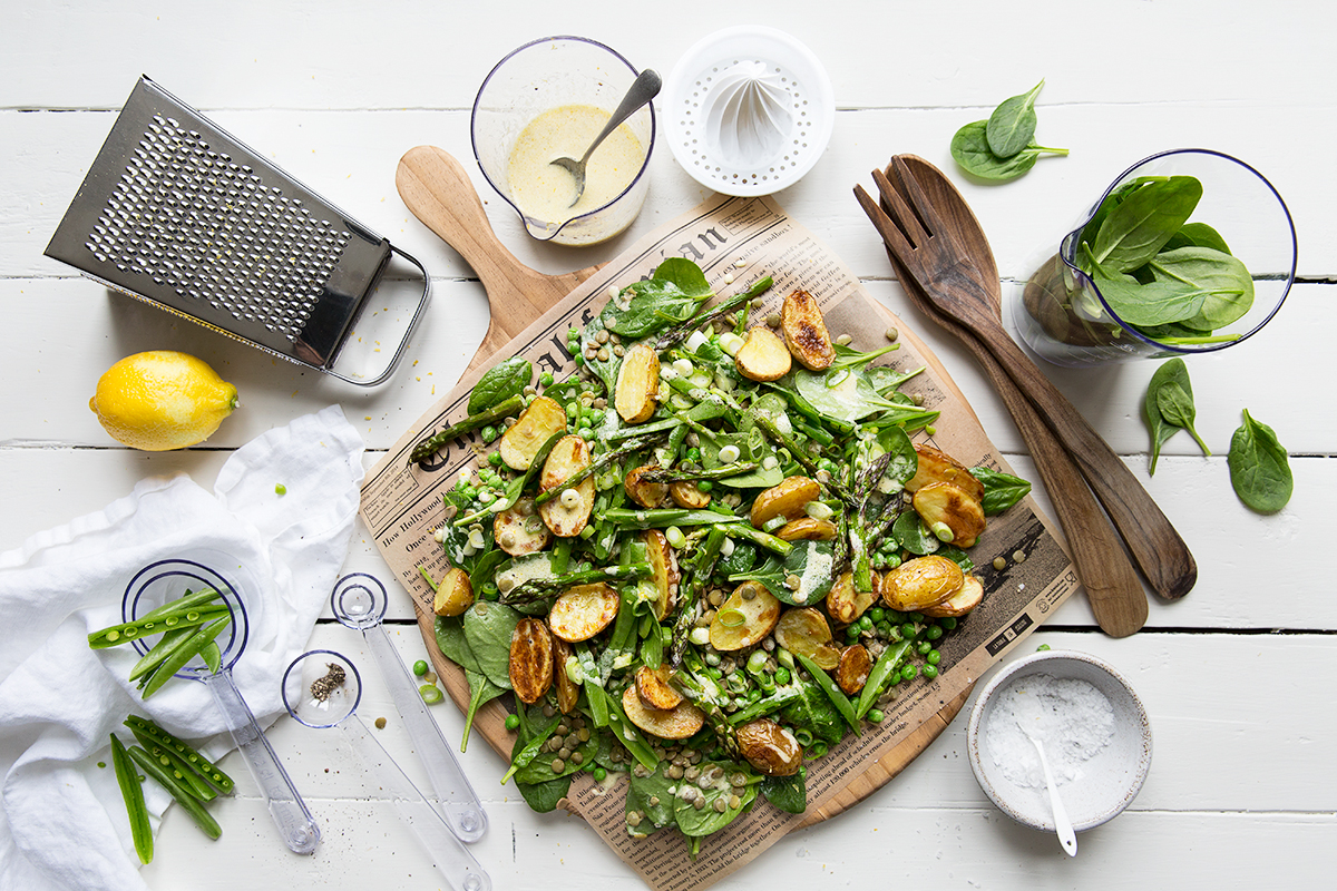 Lukewarm Summer Salad with Roasted Potatoes and Dijon Dressing :: Sonja Dahlgren/Dagmar's Kitchen